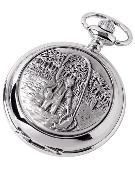 'Fisherman' Quartz Pocket Watch with Chain